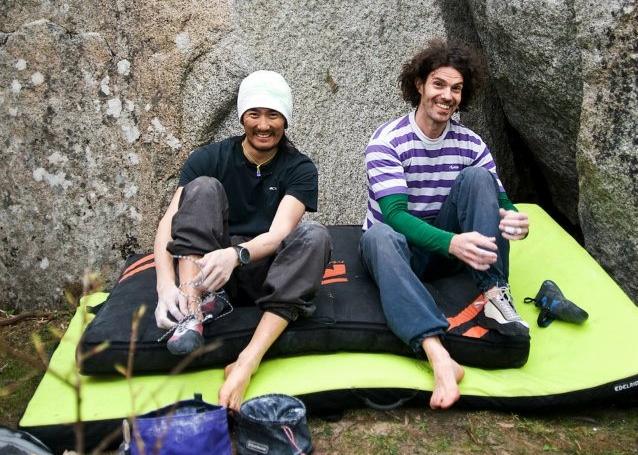 Kim och Anders på klippan.