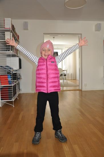 Bianca provar Patagonia Kids Downsweater