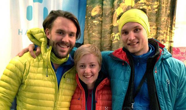 Niklas, Johanna och Felix, Addnaturegänget som var med och sprang.