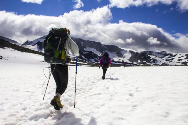 Sommarvandring i Norge kan lätt misstas för en vintertur.