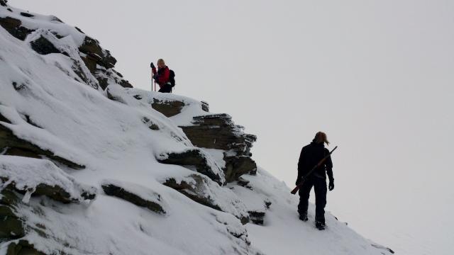 2. På väg uppför Nordenskiöldstoppen