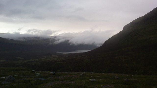 Utsikt efter ca 80 km av Swedish Alpine Ultra